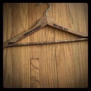 Vintage Hotel hanger wood, Am. Stanhope, N.Y., N.Y